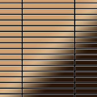 Metall mosaikk TITANLEGERING lineær-Ti-AM