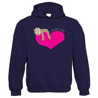 I Sloth You, pehmoinen Sloth, Hoodie-Valentines Äidit päivä rakkaus lahja hänen MUM äiti
