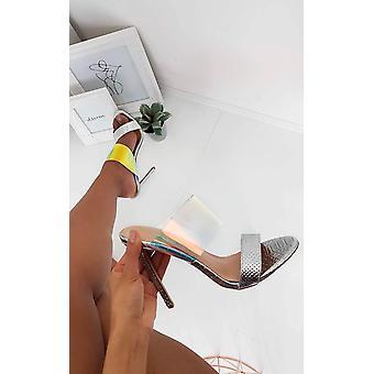 IKRUSH Womens Paloma Iridescent Heels