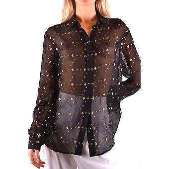 Saint Laurent Ezbc022010 Women's Black Silk Shirt