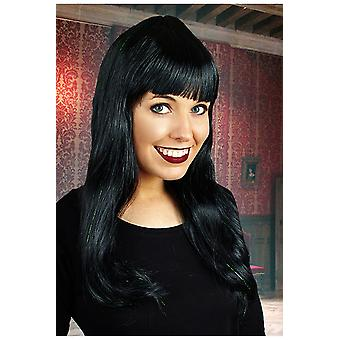 Wigs  Long wig with fringe black