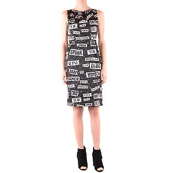 Moschino Ezbc015051 Women's White/black Cotton Dress