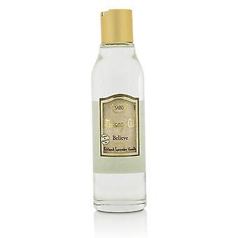 Sabon Massage Oil - Believe (patchouli Lavender Vanilla) - 150ml/5oz