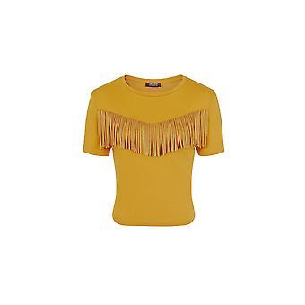 Girls On Film Womens/Ladies Rockferry Fringed T-Shirt