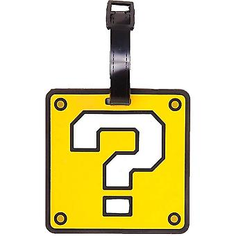 Super Mario Question Block Rubber Luggage Tag