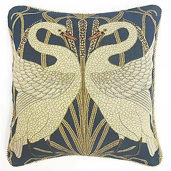 Walter crane - swan cushion cover by signare tapestry / 18in x 18in / ccov-art-swan