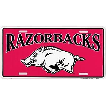 Arkansas Razorbacks NCAA License Plate