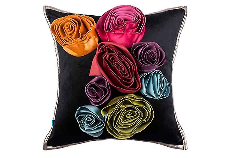 Statement Lux Bouquet Floral Throw Pillow Cover