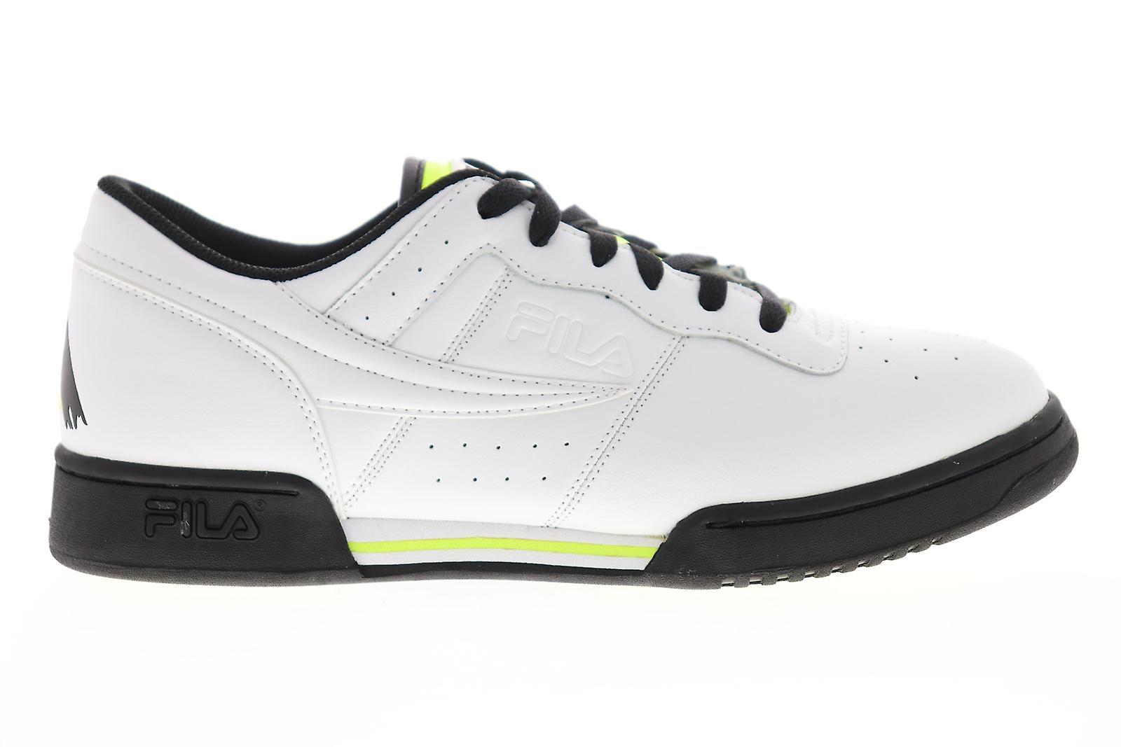 Fila original fitness logo menns hvit casual lav topp joggesko sko