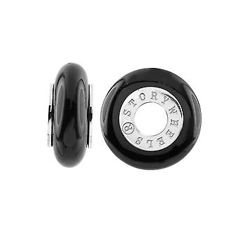Storywheels Silver & Onyx Charm S377ON
