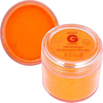 The Edge Nails Amy G - Fluorescent Nail Powders - 5g Hot Orange (3003010)