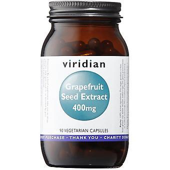 Viridian grapefrukt utsäde extrakt 400mg veg mössor 90 (397)
