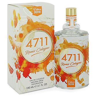 4711 remix eau de cologne spray (unisex 2018) by 4711 544095 151 ml