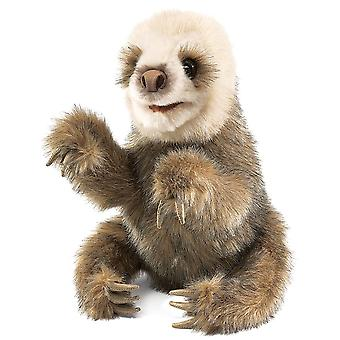 Hand Puppet - Folkmanis - Sloth Baby New Animals Soft Doll Plush Toys 2927