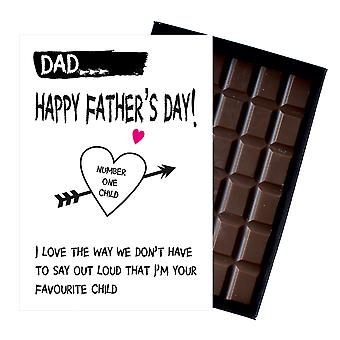 Funny Fathers Day Gifts For Dad Presents for Dad Daddy 85g Boxed Chocolate FD104