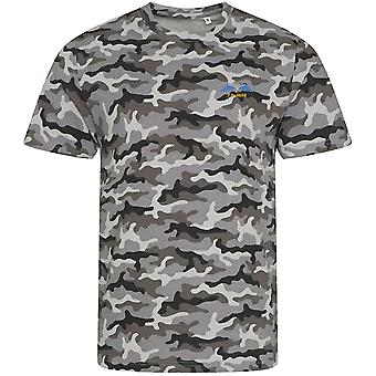 7 Battalion REME - Licensed British Army Embroidered Camouflage Print T-Shirt