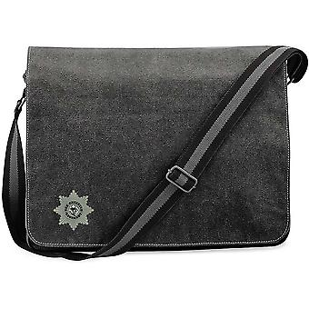 Cheshire Regiment 1920 - Licenza British Army Ricamato Vintage Canvas Despatch Messenger Bag