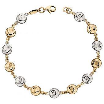 Elements Gold Organic Disc Bracelet - Or/Argent