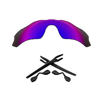 Polarized Replacement Lenses Kit for Oakley Radar EV Path Purple Mirror Black Anti-Scratch Anti-Glare UV400 SeekOptics