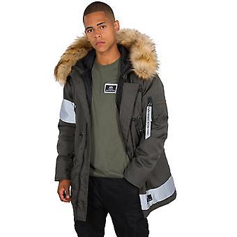 Alpha Industries Men's Winter Jacket N-3B Reflective Stripes