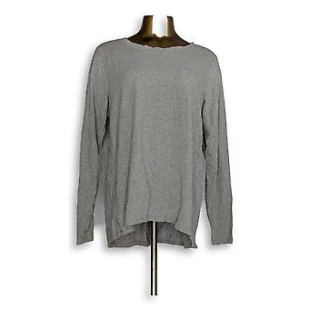 Anybody Women's Petite Sleepshirt XLP Cozy Knit Light Gray A298207