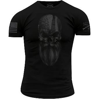 グラントスタイル スペクター ビアード スカル Tシャツ - ブラック