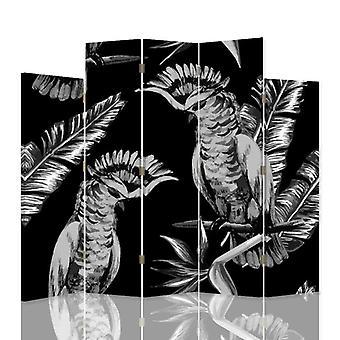 Dekorative Raumteiler, 5 Paneele, doppelseitig, 360 ° Drehbare Leinwand, Vogel Husaren 2