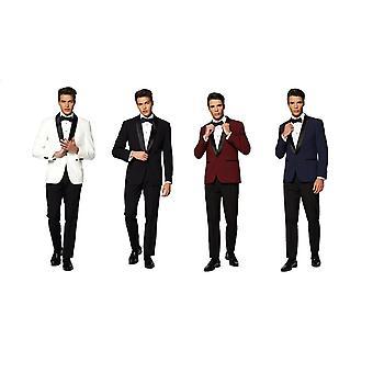 Blanc fumé avec un pantalon veste noeud papillon Opposuits Slimline Men's 3-piece Premium