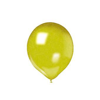 """25 10 """"/25cm μεταλλικά μπαλόνια-χρυσό"""