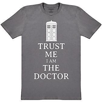סמוך עלי אני הדוקטור-חולצת גברים