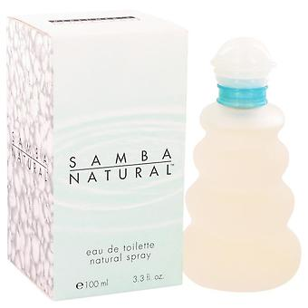 Samba natural eau de toilette spray by perfumers workshop 401313 100 ml