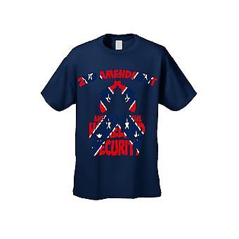 Men's Confederate Rebel Flag T Shirt Americas Original Homeland Security - Logo on Front