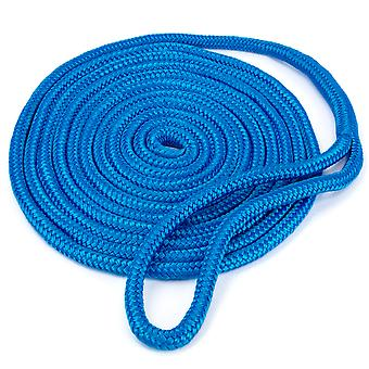 15' Double-Braided Nylon Dockline, Blue