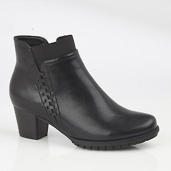 Cipriata Alesia Ladies Side Zip Ankle Boots Black