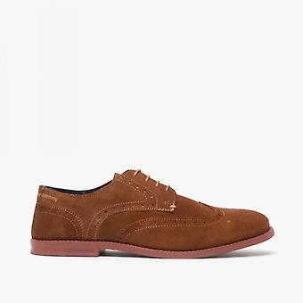Silver Street London Hobart Mens Suede Brogue Shoes Tan
