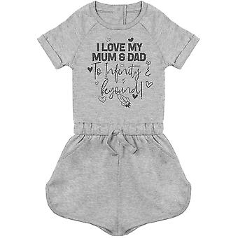 I Love My Mum & Dad To Infinity & Beyond - Baby Playsuit