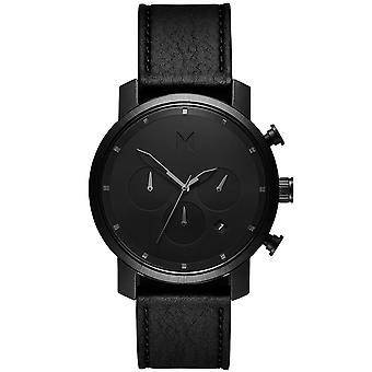 MVMT MC02-BLBL chrono black leather 40mm 10ATM