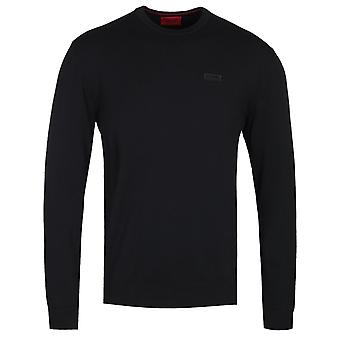 HUGO San Claudio 2 Black Crew Neck Sweater