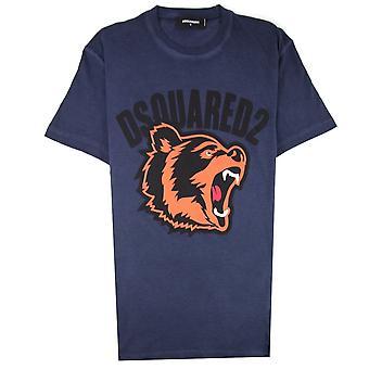 Dsquared2 Bär Logo T-shirt Navy Blue