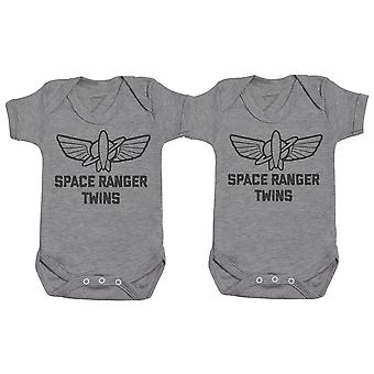 Space Ranger Twins, Baby Gift, Baby Boy Gift, Baby Girl Gift, Baby Boy Bodysuit, Baby Girl Bodysuit