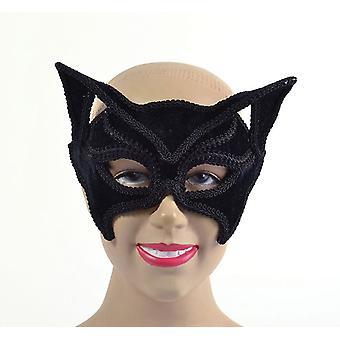 Kat Black Mask (op glazen stijl frame)