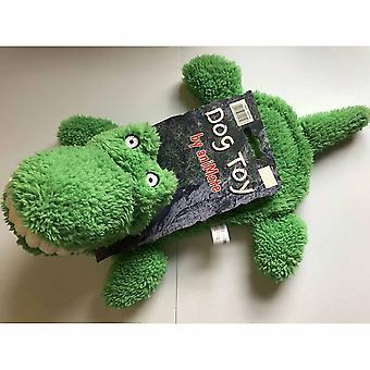 Animate Big Teeth Stuffed Head Crocodile Squeaky Toy