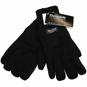 Mens Knitted Thermal Thinsulate Lined Warm Winter High Cuff Glove