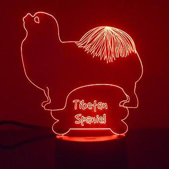 Tibet Spaniel Hund Farbwechsel LED Acryl Licht