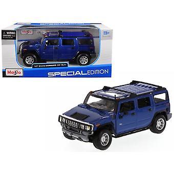 2003 Hummer H2 SUV Blue 1/27 Diecast Model Car par Maisto