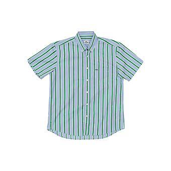 Blue Lacoste men's short-sleeved shirt