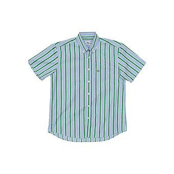 Blaue lacoste Herren Kurzarmhemd