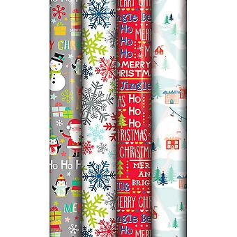 Eurowrap Christmas North Pole Gift Wrap Rolls (Pack of 36)