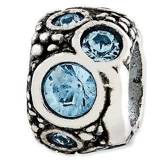 925 שטרלינג גימור כסף השתקפויות אור כחול קריסטל חרוז תליון קסם שרשרת תכשיטים מתנות לנשים