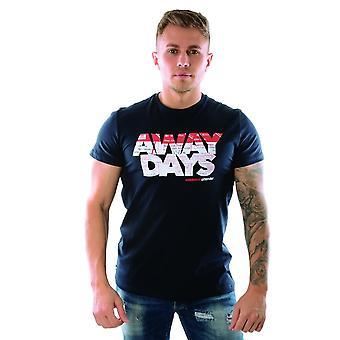 Weekend Offender Away Days Logo Print 1903 Half Sleeve T-shirt - Navy